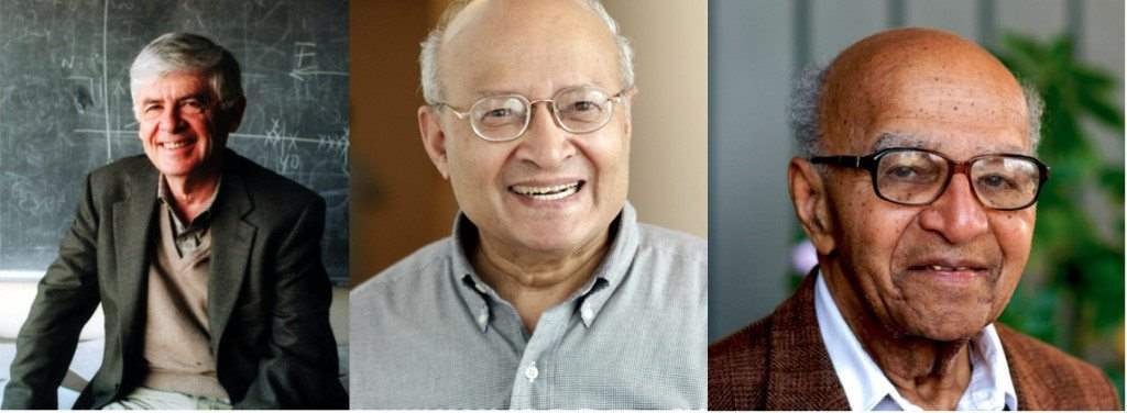 Από τα αριστερά προς τα δεξιά: A.Chorin, T.Kailath, D. Blackwell