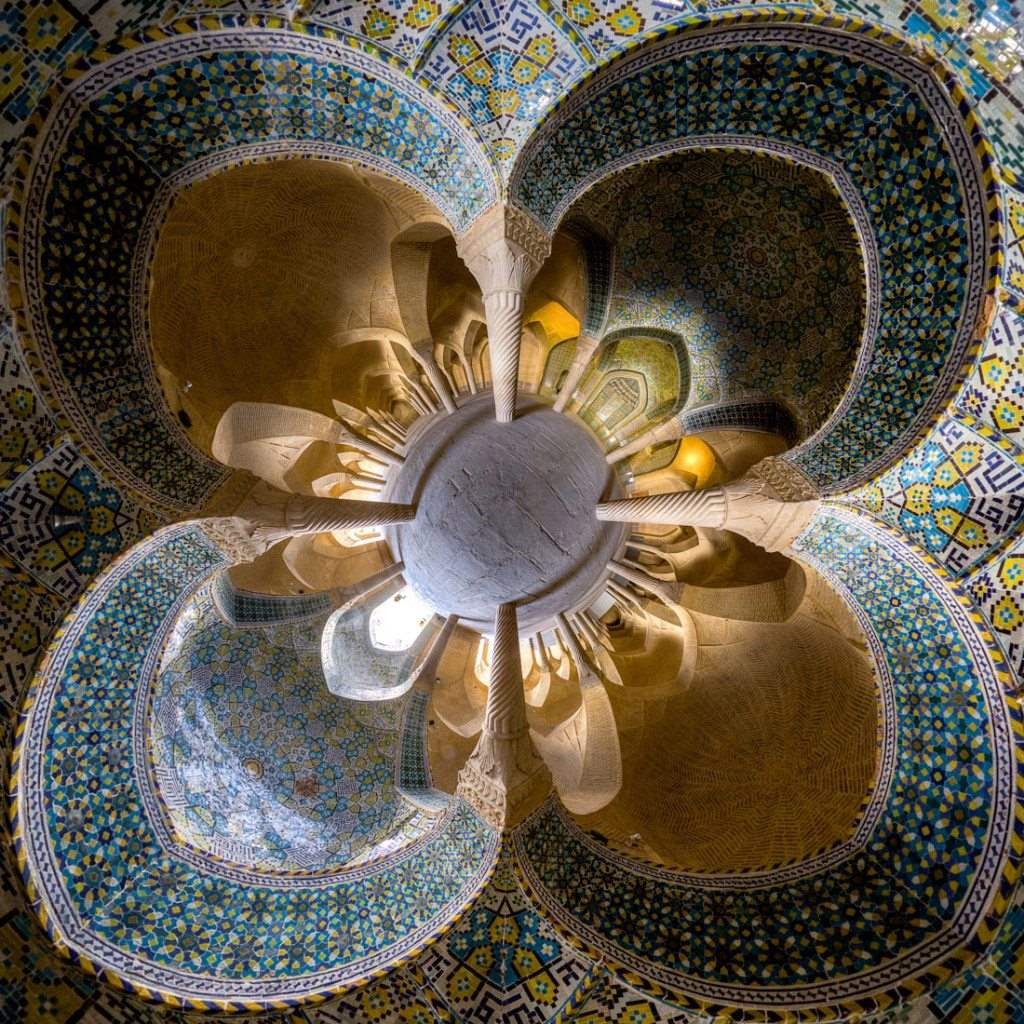 Vakil mosque- Shiraz ( little planet view)