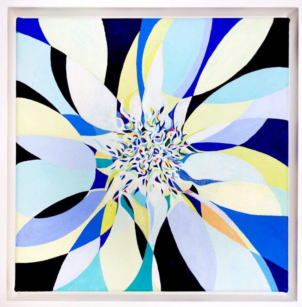 Rupert-Newman-Shimmy-2014-gouache-on-canvas-30-x-30-cm-framed-1007x1024