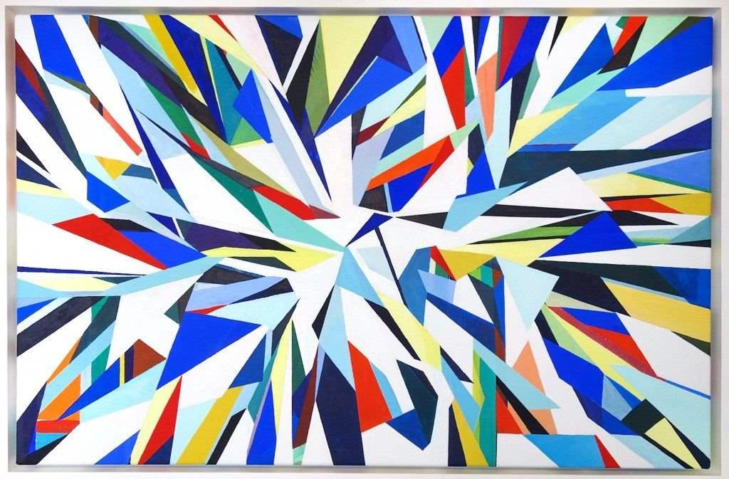 Rupert-Newman-Slam-Dunk-2014-gouache-on-canvas-61-x-90-cm-framed-1024x673