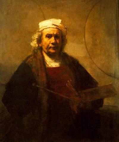 Η Αυτοπροσωπογραφία με τους δύο Κύκλους του Rembrandt