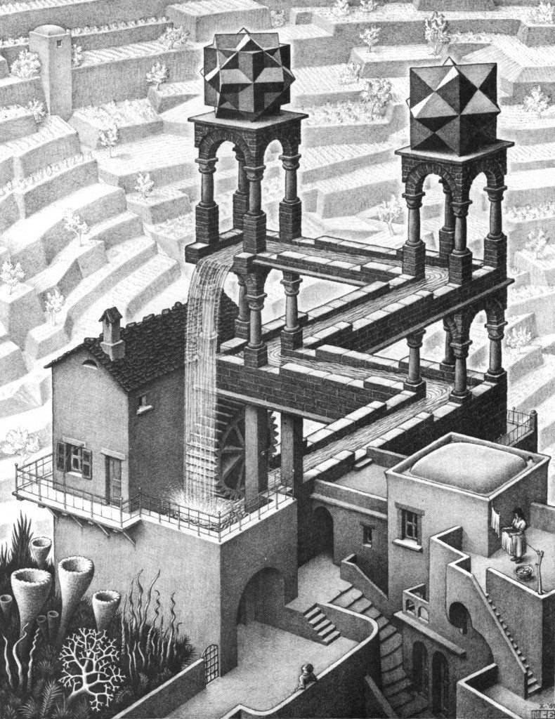 Escher 452 - WATERFALL (1961)