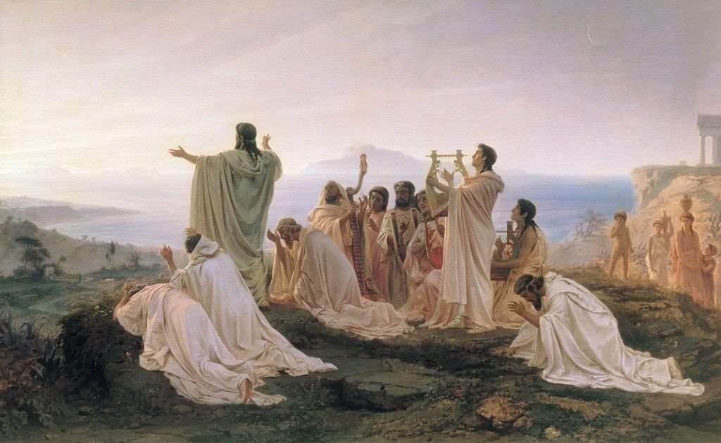 Fyodor Bronnikov (Russian, 1827–1902), Pythagorean Hymn to the Rising Sun, 1869. State Tretyakov Gallery Moscow.