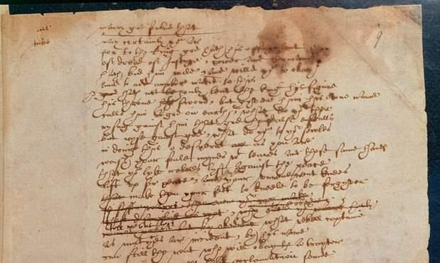 Το χειρόγραφο του Σαίξπηρ